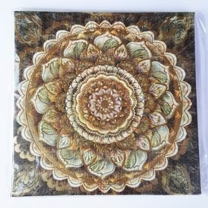 Other - Mandala Floral Medallion Metallic Canvas Wall Art